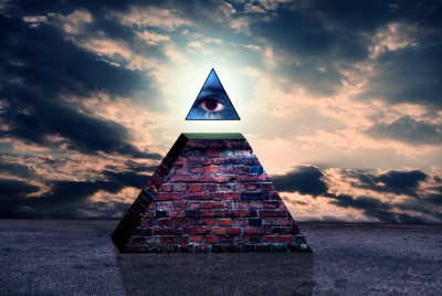 All Seeing Eye Pyramid Illuminati Symbols